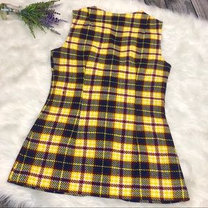 Vintage Jackets & Coats - VINTAGE Plaid Wool Button Front Vest